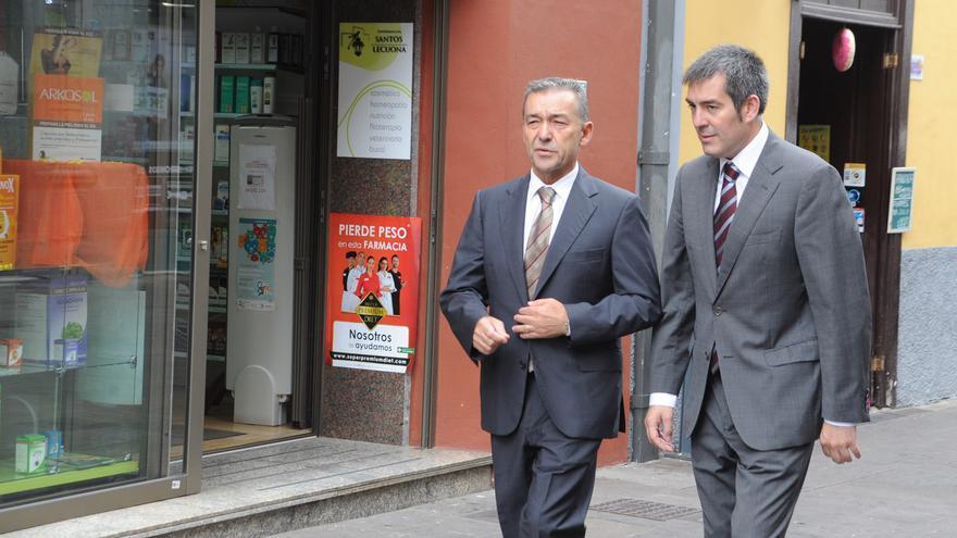 Paulino Rivero y Fernando Clavijo.