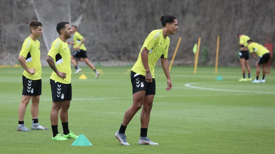 Lemos, durante un entrenamiento con el conjunto amarillo