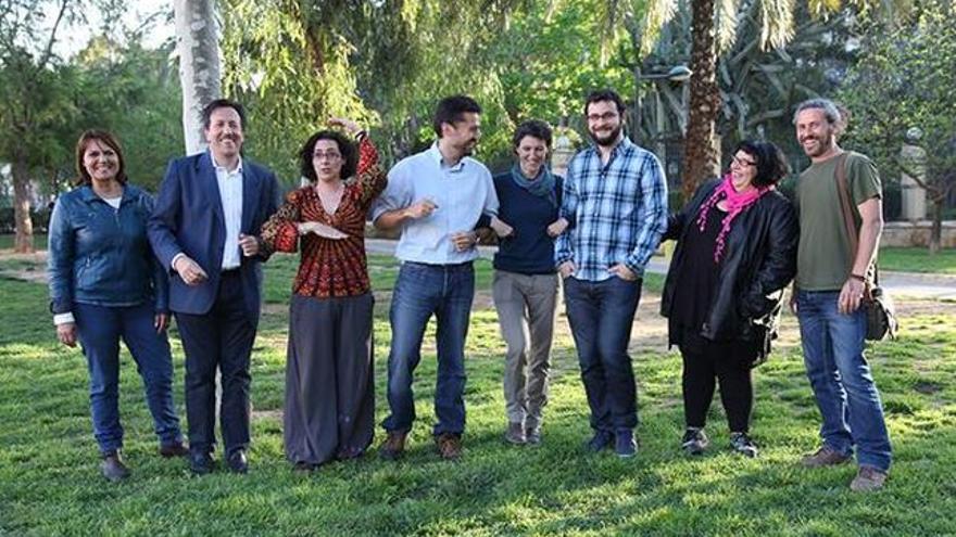 Los integrantes de la candidatura de València en Comú en las municipales