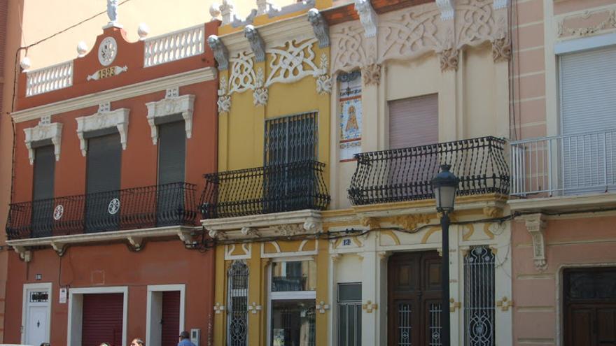 Casas del barrio de El Cabanyal (Valencia). Foto: Salvem el Cabanyal