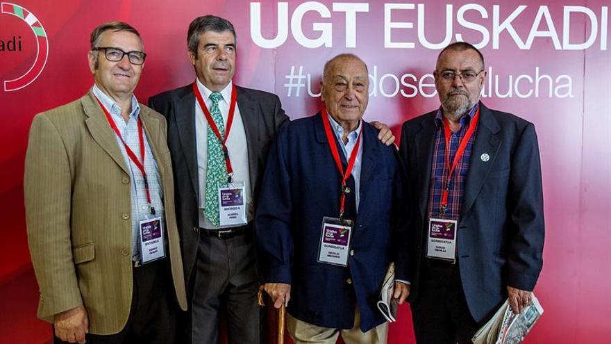 UGT Euskadi rinde homenaje a Nicolás Redondo, un referente para el sindicalismo
