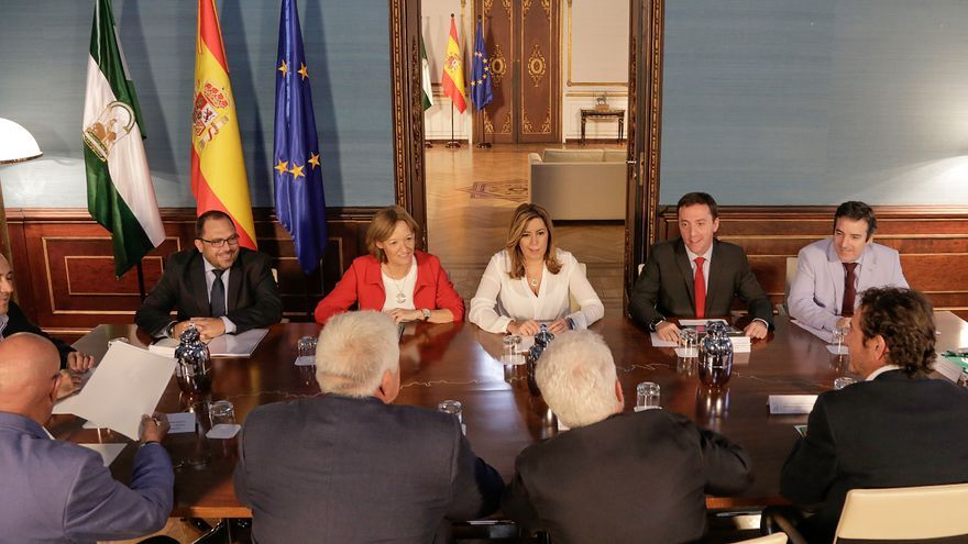 La presidenta de la Junta ha recabado la opinión del sector agrícola andaluz sobre el anteproyecto de ley.