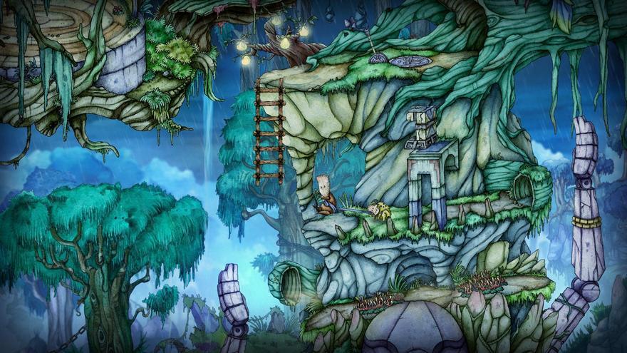 El dibujo en acuarela ofrece al jugador diferentes texturas.