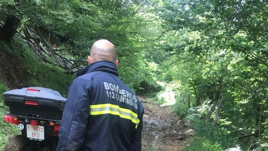 Rescatan a una mujer herida tras sufrir una caída en una ruta de montaña de Campoo de Yuso