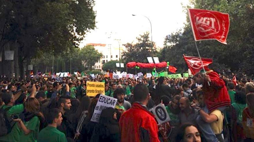 Manifestación de la marea verde en Madrid