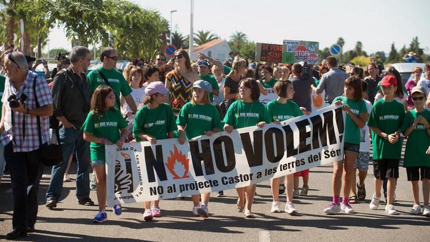 Una de las numerosas manifestaciones celebradas en contra del Castor