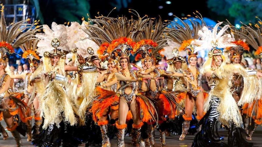 Momento de la actuación de Los Joroperos, este sábado en el Carnaval chicharrero