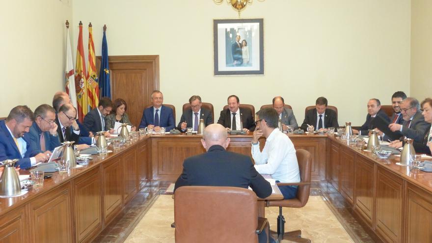 Pleno de la Diputación Provincial de Teruel celebrado este martes