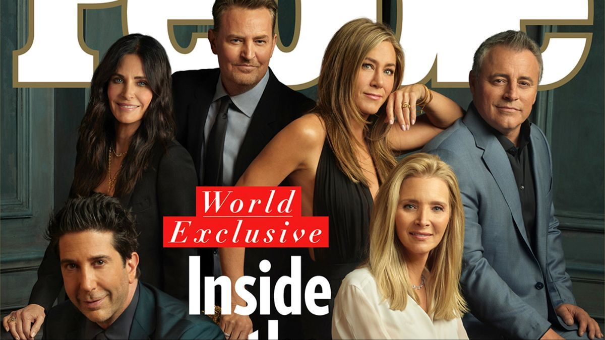Portada de 'People' con los protagonistas de 'Friends' tras su reencuentro