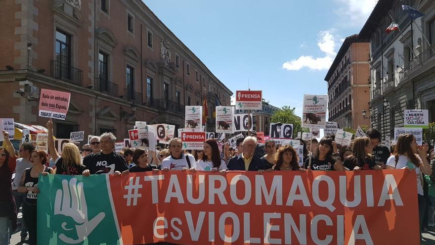 Pancarta de la cabecera de la manifestación