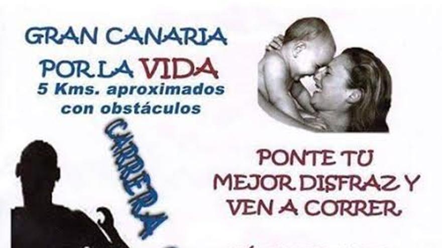 Cartel de la carrera solidaria Gran Canaria por la Vida.