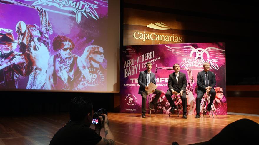 Presentación este jueves del concierto de Aerosmith que tendrá lugar en Tenerife en 2017