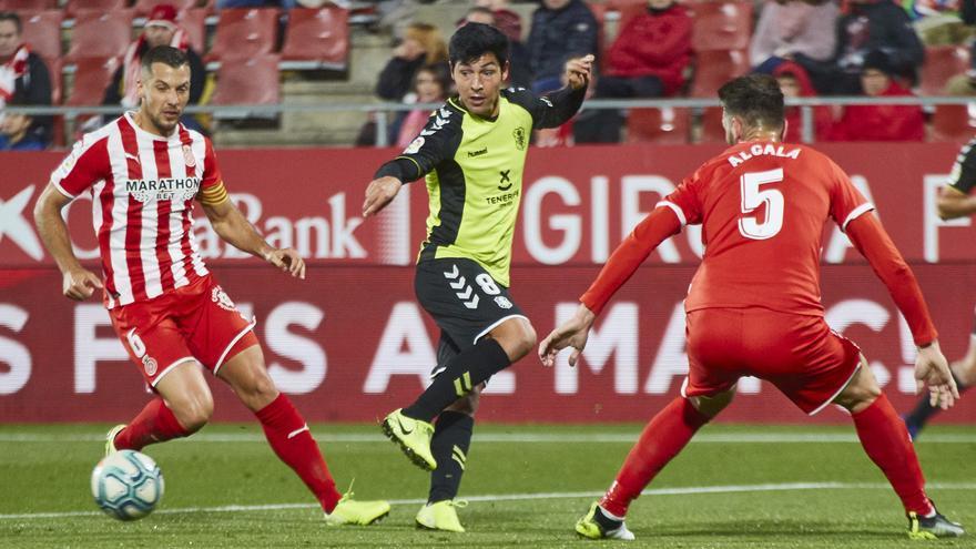 Borja Lasso, en una jugada frente al Girona