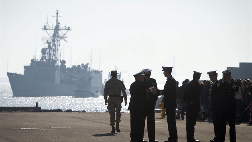 """La fragata """"Navarra"""" se integra en  una operación de lucha contra el tráfico de personas"""