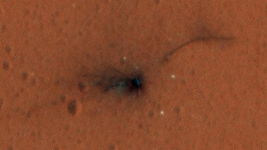 La ESA muestra en color el lugar donde chocó en Marte el módulo Schiaparelli
