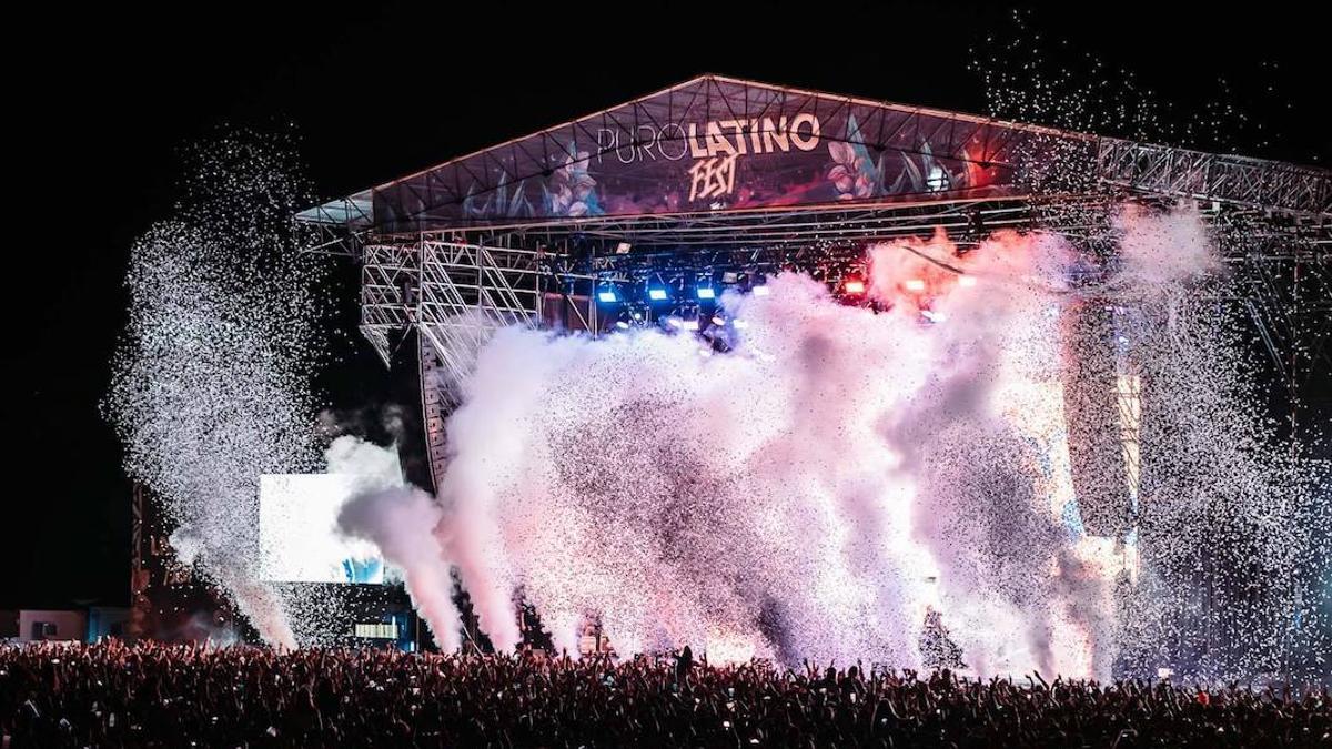 Imagen de un festival Puro Latino, compartida en las redes de la promotora.