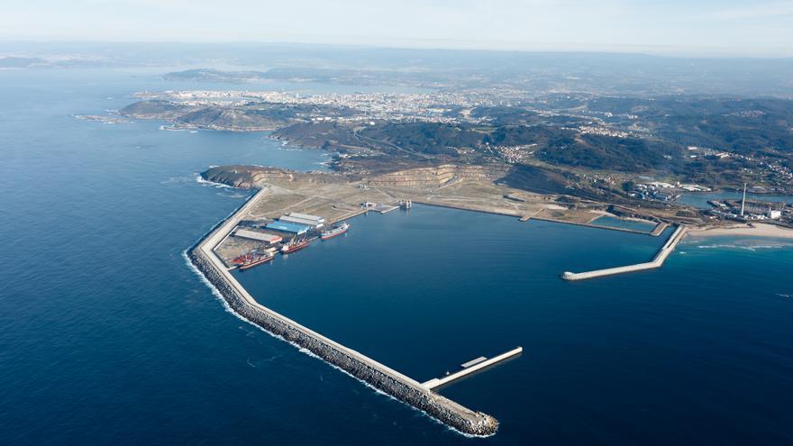 Panorámica del Puerto Exterior de A Coruña