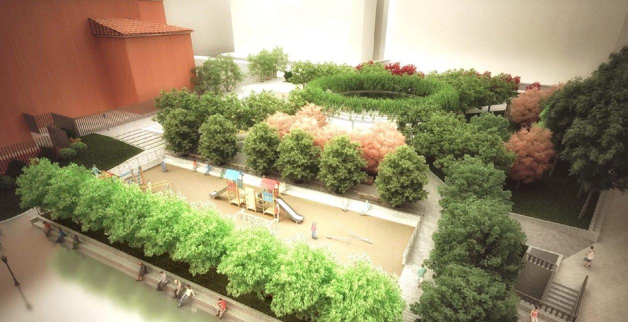 Diseño final de los Jardines del Arquitecto Ribera, en Barceló