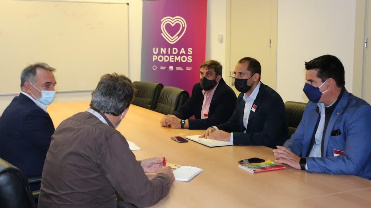Reunión de IU Córdoba con el grupo Unidas Podemos en el Congreso.