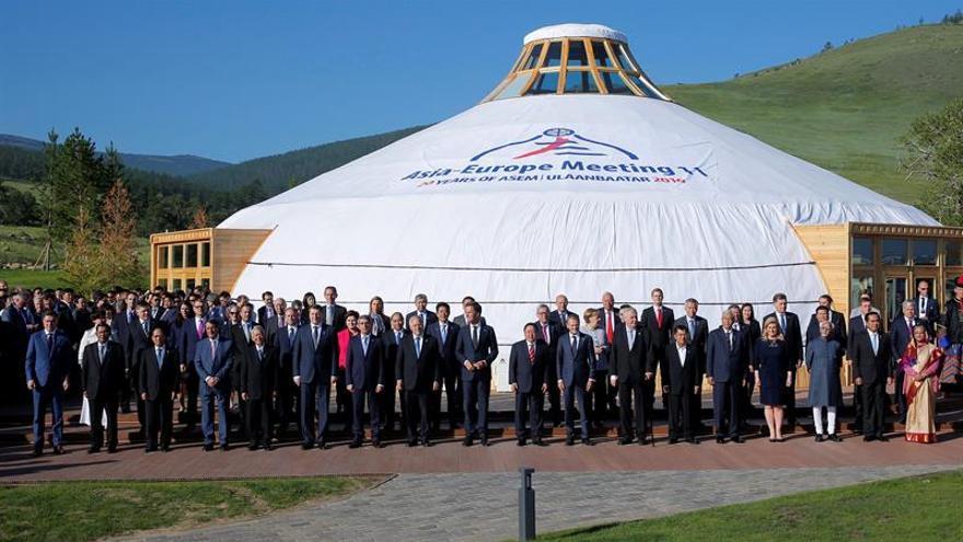 Los líderes de Europa y Asia piden la desnuclearización de Corea del Norte
