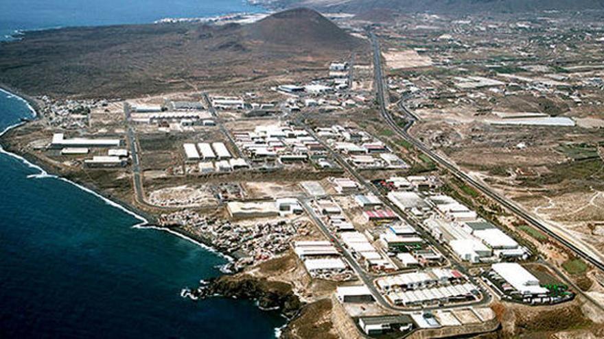 Vista aérea del espacio industrial de la comarca de Güímar, en una imagen de archivo