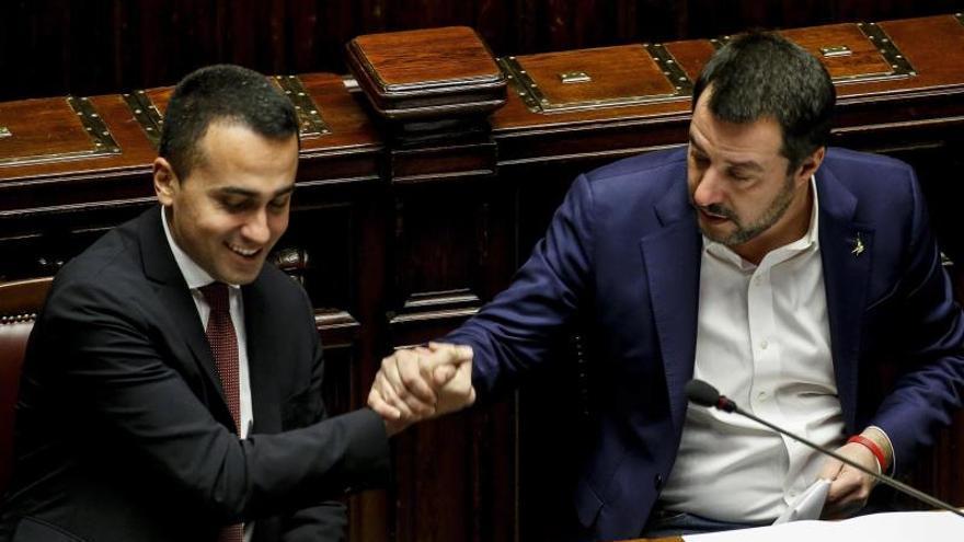 Luigi di Maio (M5S) y Matteo Salvini (Liga).