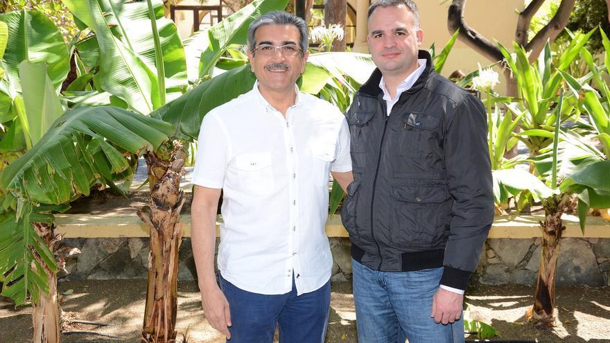 Román Rodríguez, presidente de Nueva Canarias, y David Morera, coordinador de NN en Los Llanos de Aridane.