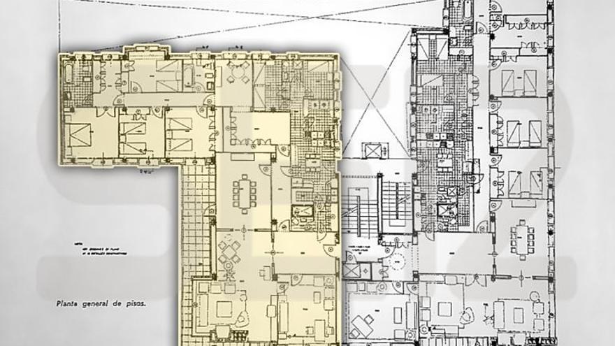 Plano general de la vivienda en la que residirá Rouco Varela