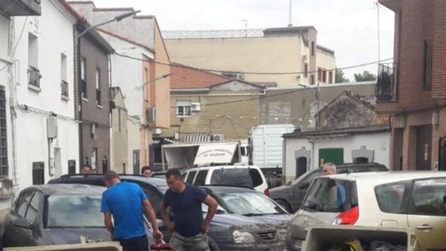 El municipio de Cebolla tras la riada sufrida este fin de semana