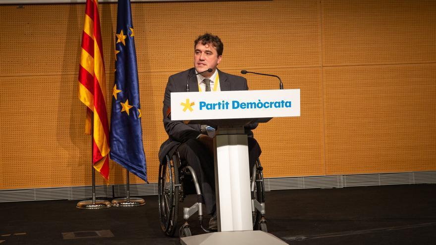El presidente del PDeCAT, David Bonvehí, en un Consell Nacional del PDeCAT