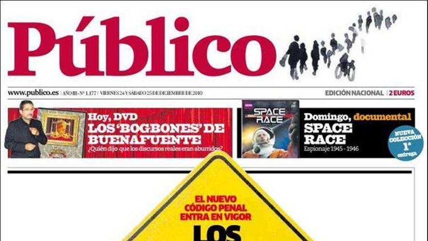 De las portadas del día (24/12/2010) #11