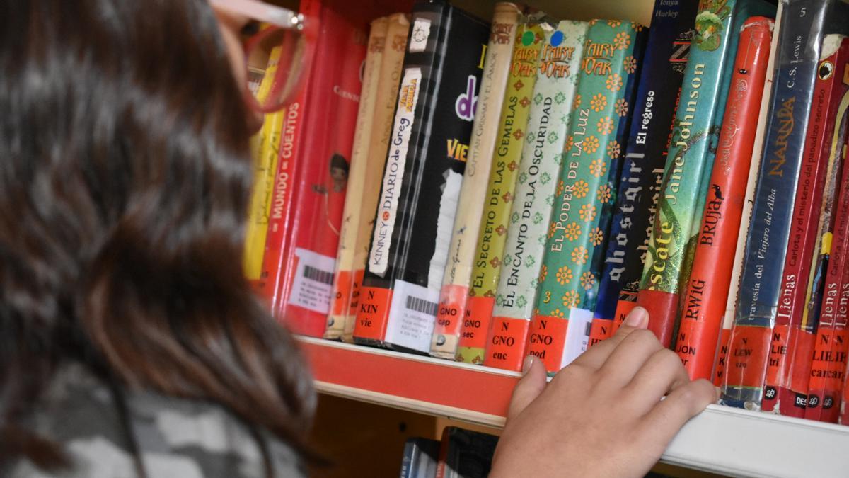 niña biblioteca lectura infantil
