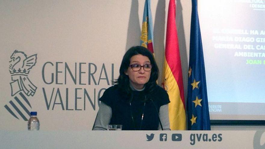 La vicepresidenta del Consell, Mónica Oltra, en rueda de prensa