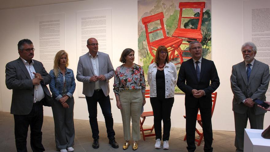 Acto de apertura de la exposición.