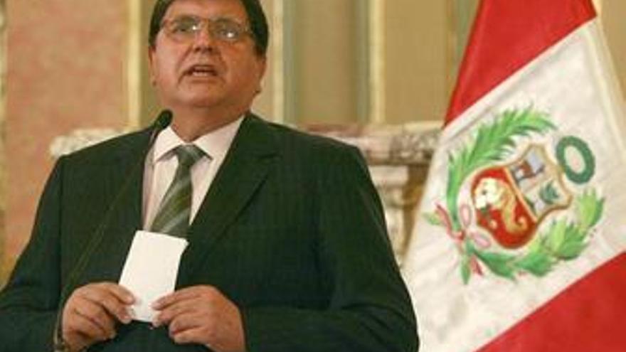 Alan García disertando a la nación