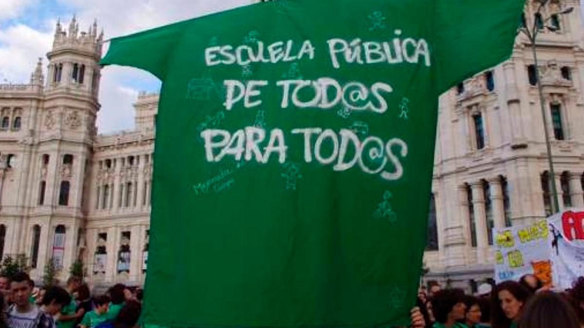 Protesta por la educación pública.
