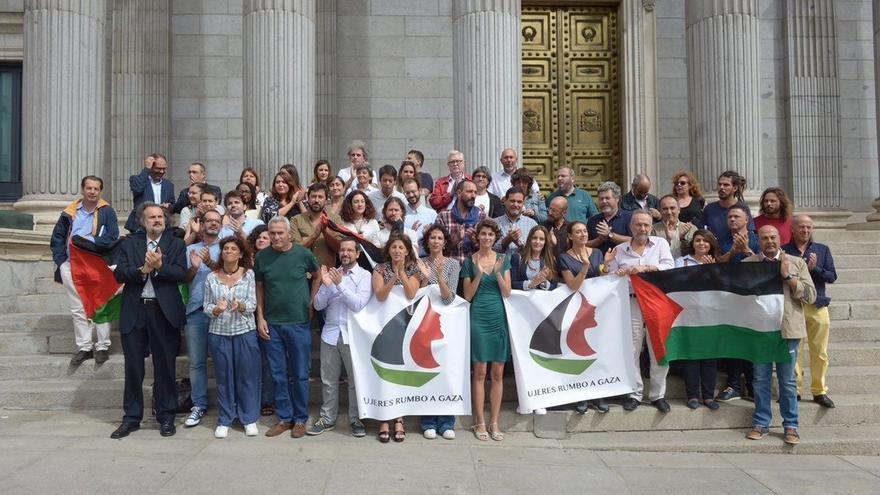 Una diputada de Unidos Podemos embarcará hoy en la Flotilla de Mujeres que quiere romper el bloqueo de Gaza