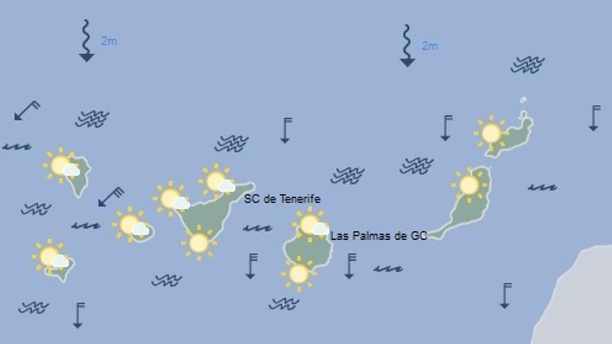 Previsión del tiempo en Canarias para este viernes, 15 de julio
