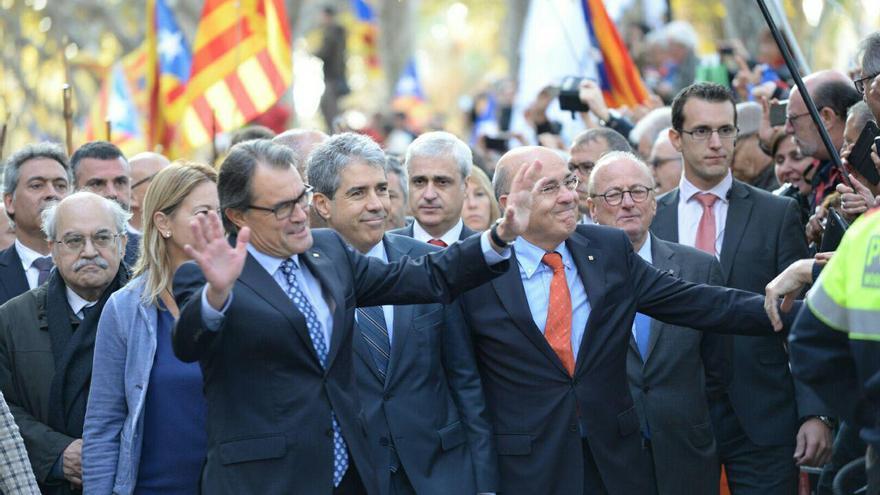 Artur Mas a su llegada al Palau de Justicia / SANDRA LÁZARO