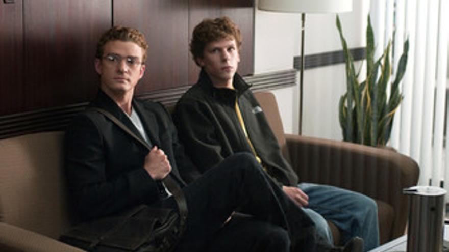 Justin Timberlake, Jesse Eisenberg en The Social Network