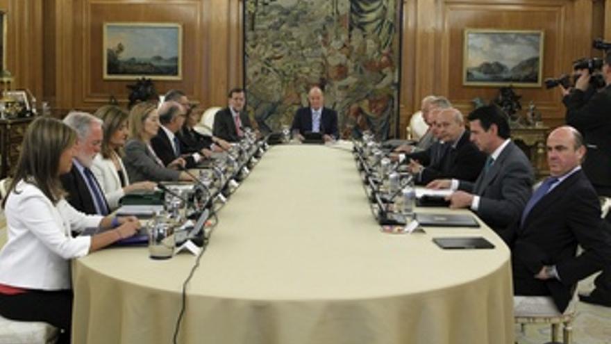 El Rey preside en Zarzuela el Consejo de Ministros Deliberante. (EUROPA PRESS)