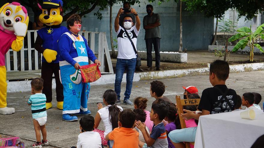 Menores migrantes festejan el Día del Niño en la ciudad mexicana de Tapachula