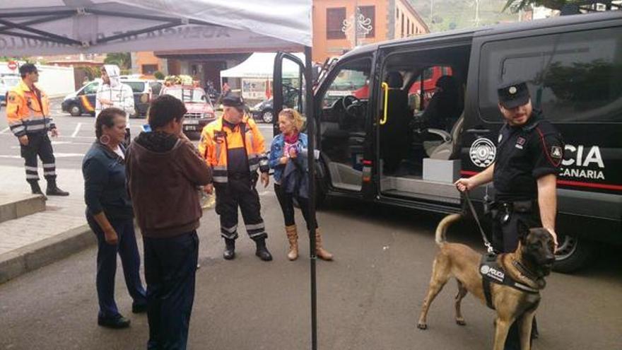Perro de la Policía Canaria en una actuación en Tegueste. FOTO: @CGPCanaria
