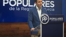 El secretario general del PP, Teodoro García Egea, en un acto en Murcia