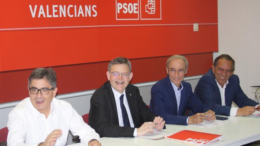 Alfred Boix, Ximo Puig, Ciprià Císcar y Manolo Mata en la ejecutiva del PSPV