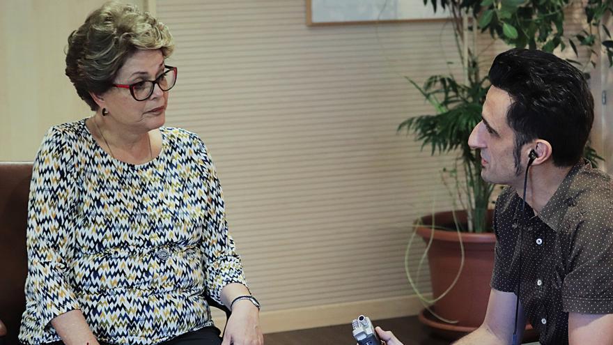 Dilma Rousseff y Javier Gallego durante la entrevista
