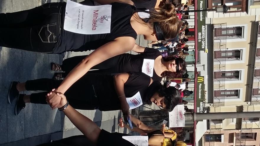 Performance de Médicos del Mundo contra la trata de mujeres con fines sexuales