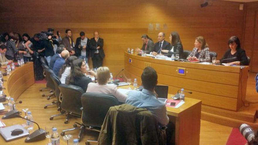 El expresident Francisco Camps en la comisión del accidente de metro de Valencia