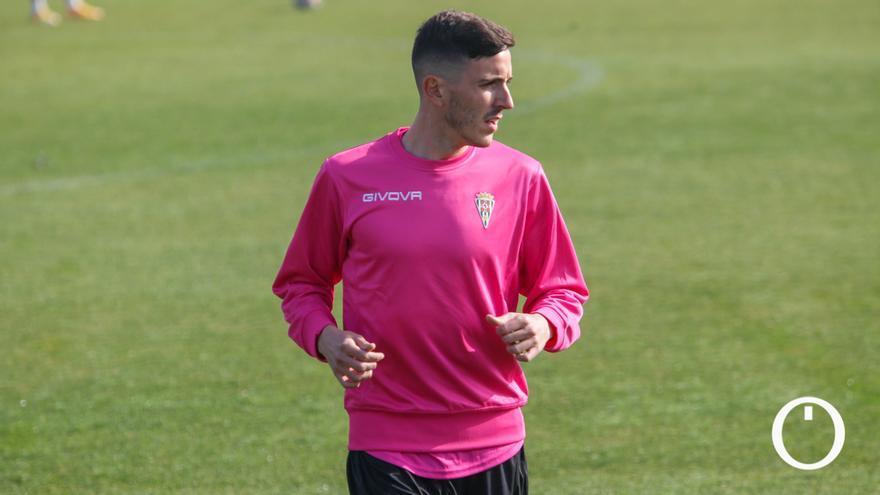 Alberto Ródenas durante un entrenamiento con el Córdoba