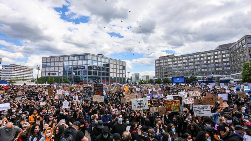 Manifestación contra el racismo y la violencia policial en Berlín, junio de 2020.
